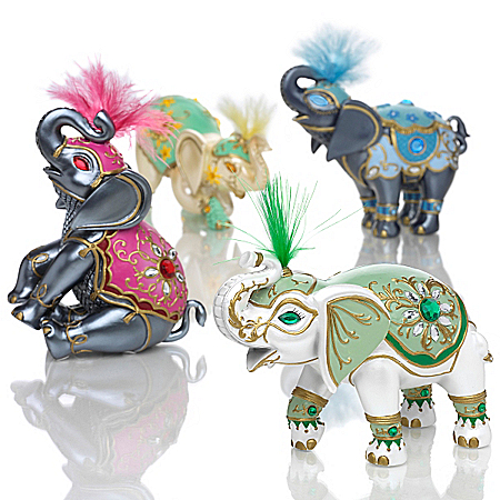 Figurines: Elephants Of Good Fortune Figurine Collection