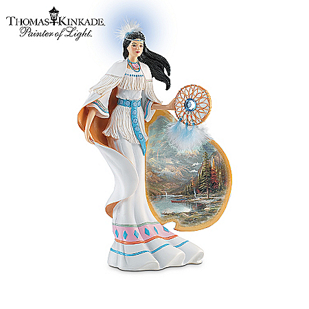 Native American Collectibles Thomas Kinkade Visions Of The West Native American-Inspired Figurine Collection