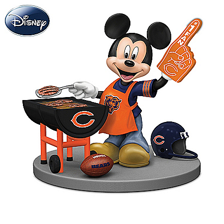 Disney Chicago Bears Tailgating Fun With Mickey & Friends Figurine Collection