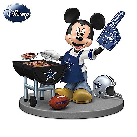 Disney Dallas Cowboys Tailgating Fun With Mickey & Friends Figurine Collection