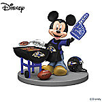 Disney Baltimore Ravens Tailgating Fun With Mickey & Friends Figurine Collection