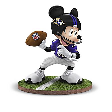 The Bradford Exchange Online - Disney Figurine Collection: Football Fun-atics Baltimore Ravens Photo