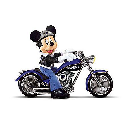 Disney NFL Figurine Collection: Cruising The Open Road With Mickey And The Baltimore Ravens