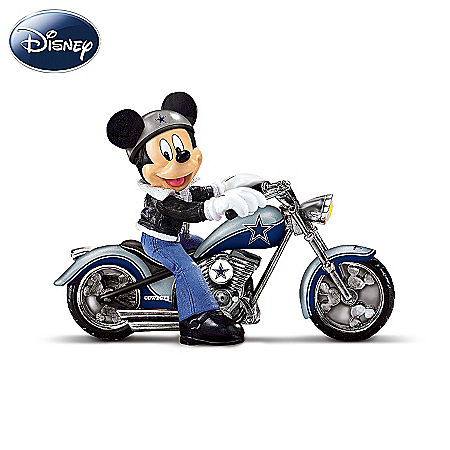 Disney NFL Figurine Collection: Cruising The Open Road With Mickey And The Dallas Cowboys