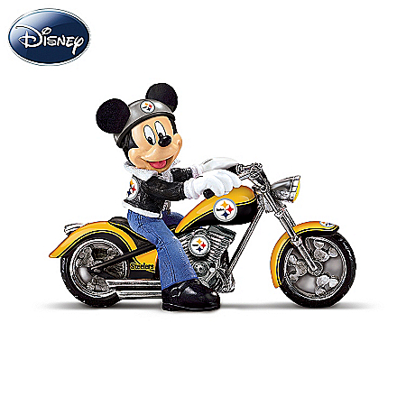 Disney NFL Figurine Collection: Cruising The Open Road With Mickey And The Pittsburgh Steelers