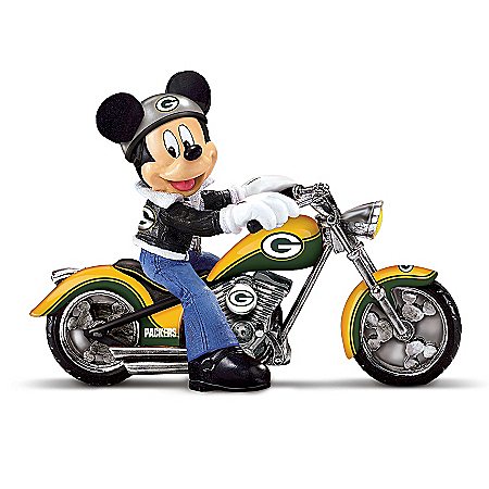 Disney NFL Figurine Collection: Cruising The Open Road With Mickey And The Green Bay Packers