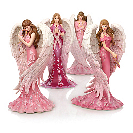 Figurines: Angelic Reflections Of Hope Figurine Collection