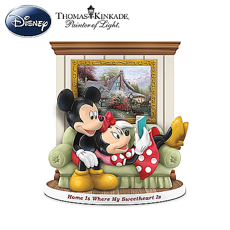 Figurines: Disney Magical Moments At Home With Thomas Kinkade Figurine Collection