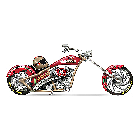 Figurines: San Francisco 49ers Motorcycle Figurine Collection