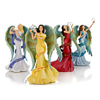 Figurines: Thomas Kinkade Reflections Of My Soul Angel Figurine Collection