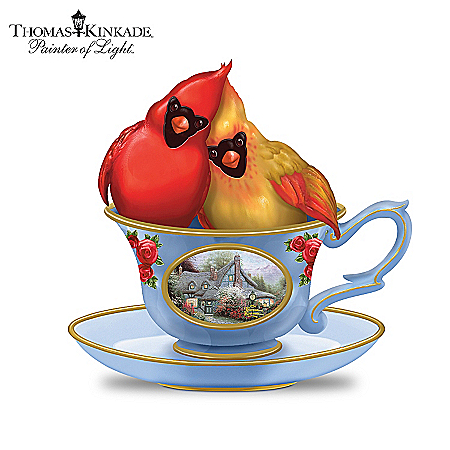 Thomas Kinkade Tea-Lightful Tweet Treats Figurine Collection