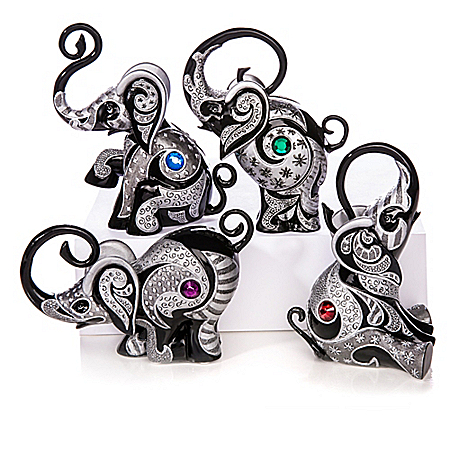 Figurines: Blake Jensen Virtues Of The Black Elephant Figurine Collection