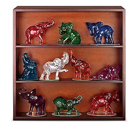 Figurines: Rarest Gem Elephants Of The World Figurine Collection