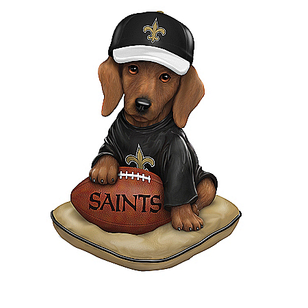 The Bradford Exchange Online - Figurines: Ruff And Tough New Orleans Saints Figurine Collection Photo