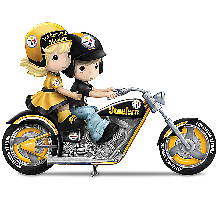 Precious Moments Collectibles Figurines: Precious Moments Highway To The Top Pittsburgh Steelers Figurine Collection