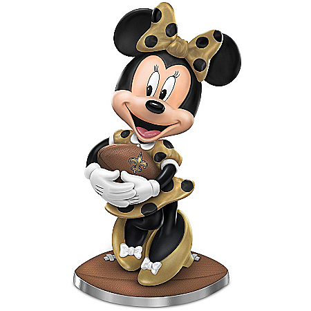 New Orleans Saints Football Fun Featuring Disney's Minnie Mouse Figurine Collection