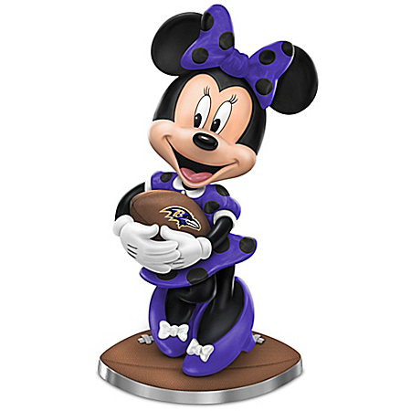 Baltimore Ravens Football Fun Featuring Disney's Minnie Mouse Figurine Collection