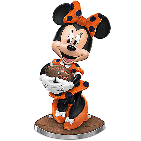Chicago Bears Football Fun Featuring Disney's Minnie Mouse Figurine Collection