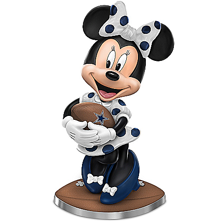 Dallas Cowboys Football Fun Featuring Disney's Minnie Mouse Figurine Collection