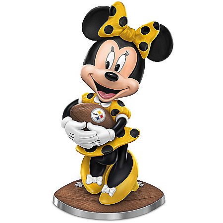 Pittsburgh Steelers Football Fun Featuring Disney's Minnie Mouse Figurine Collection