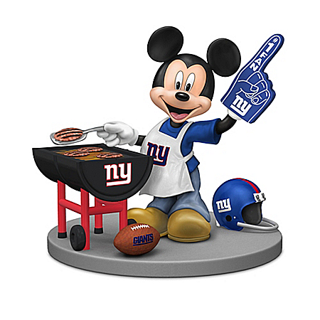 Figurines: Disney New York Giants Mickey & Friends Figurine Collection