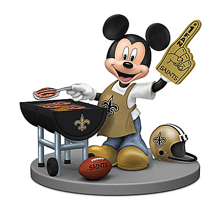 Figurines: Disney New Orleans Saints Mickey & Friends Figurine Collection