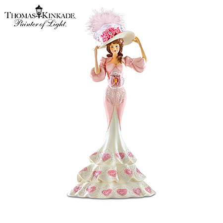 Figurines: Breast Cancer Awareness Thomas Kinkade Laced With Hope Figurine Collection