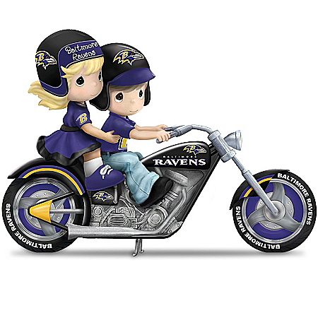 Precious Moments Baltimore Ravens Fan Figurine Collection: Highway To The Top