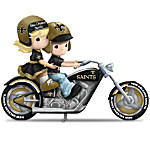 Figurines - Precious Moments Highway To The Top New Orleans Saints Figurine Collection