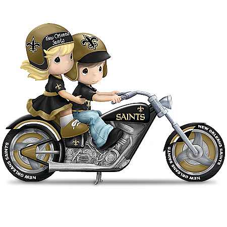 Figurines: Precious Moments Highway To The Top New Orleans Saints Figurine Collection