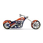 Figurines: Denver Broncos Motorcycle Figurine Collection
