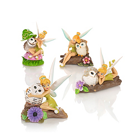Figurines: Disney Tinker Bell Owl Always Love You Figurine Collection