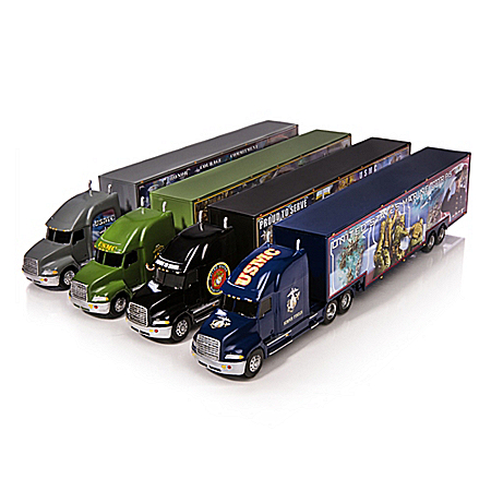 USMC Esprit De Corps 1:64-Scale Hauler Collection With Detachable Trailers