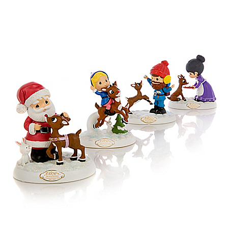 Christmas Is A Claus For Celebration Rudolph The Red-Nosed Reindeer Figurine Collection
