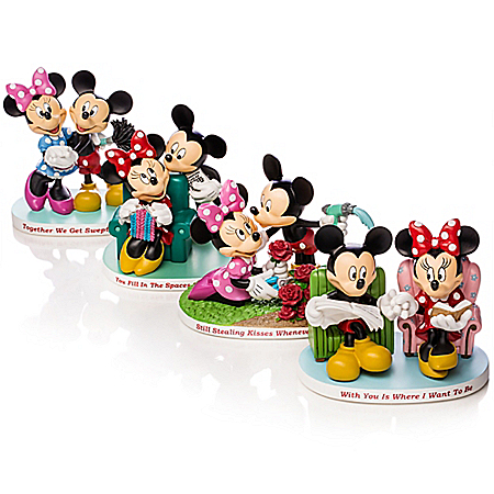 Disney Magical Moments Together With You: Mickey And Minnie Figurine Collection