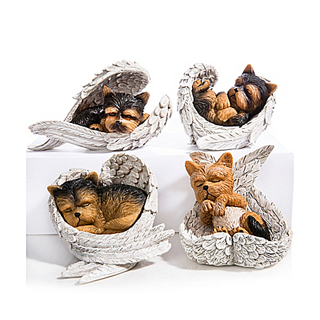 Figurines: Paw Prints From Heaven Yorkie Figurine Collection