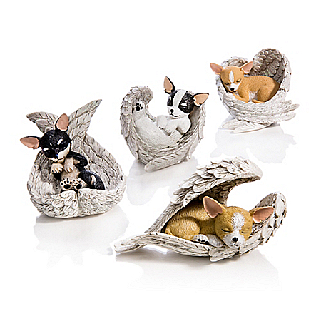 Figurines: Paw Prints From Heaven Chihuahua Figurine Collection