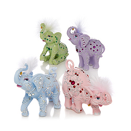 Thomas Kinkade Crystal Elegance Elephant Figurine Collection