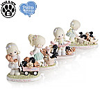 Precious Moments Paw-fect Moments Together Porcelain Figurine Collection