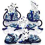Tail Of Two Lovers Blue Willow China Inspired Figurine Collection
