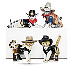 Spurs 'N Fur Kitty Cowboys Cat Figurine Collection