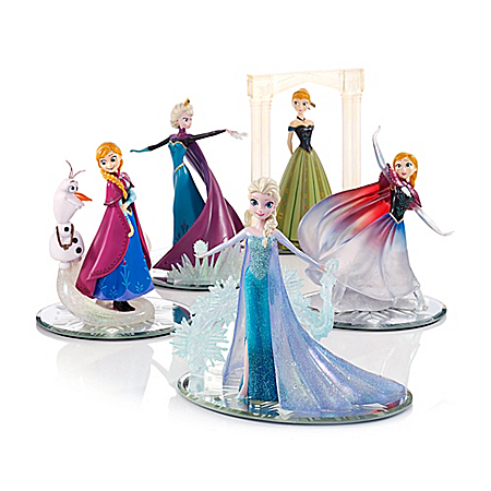 Disney Magical World Of FROZEN Let It Go Figurine Collection Featuring Elsa