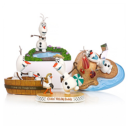 Disney FROZEN Chillin' Out With Olaf Summer Figurine Collection