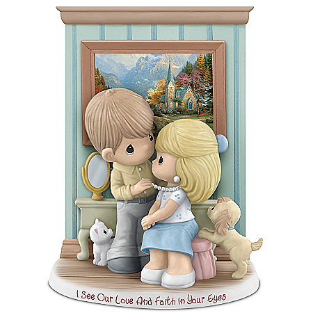 Precious Moments At Home With Thomas Kinkade Figurine Collection