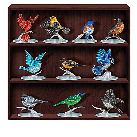 Reflections of the Songbird Gemstone-Inspired Figurine Collection