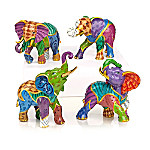 Keith Mallett Vibrant Expressions Elephant Figurine Collection