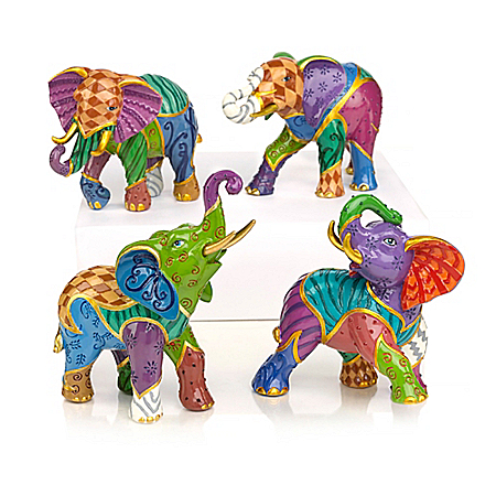 Keith Mallett Vibrant Expressions Elephant Figurine Collection 908816