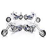 MLB-Licensed Kansas City Royals Motorcycle Figurine Collection