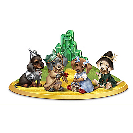 Dachshund Wizard of Oz Figurines