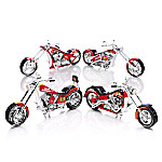 NHL-Licensed Chicago Blackhawk Motorcycle Figurine Collection